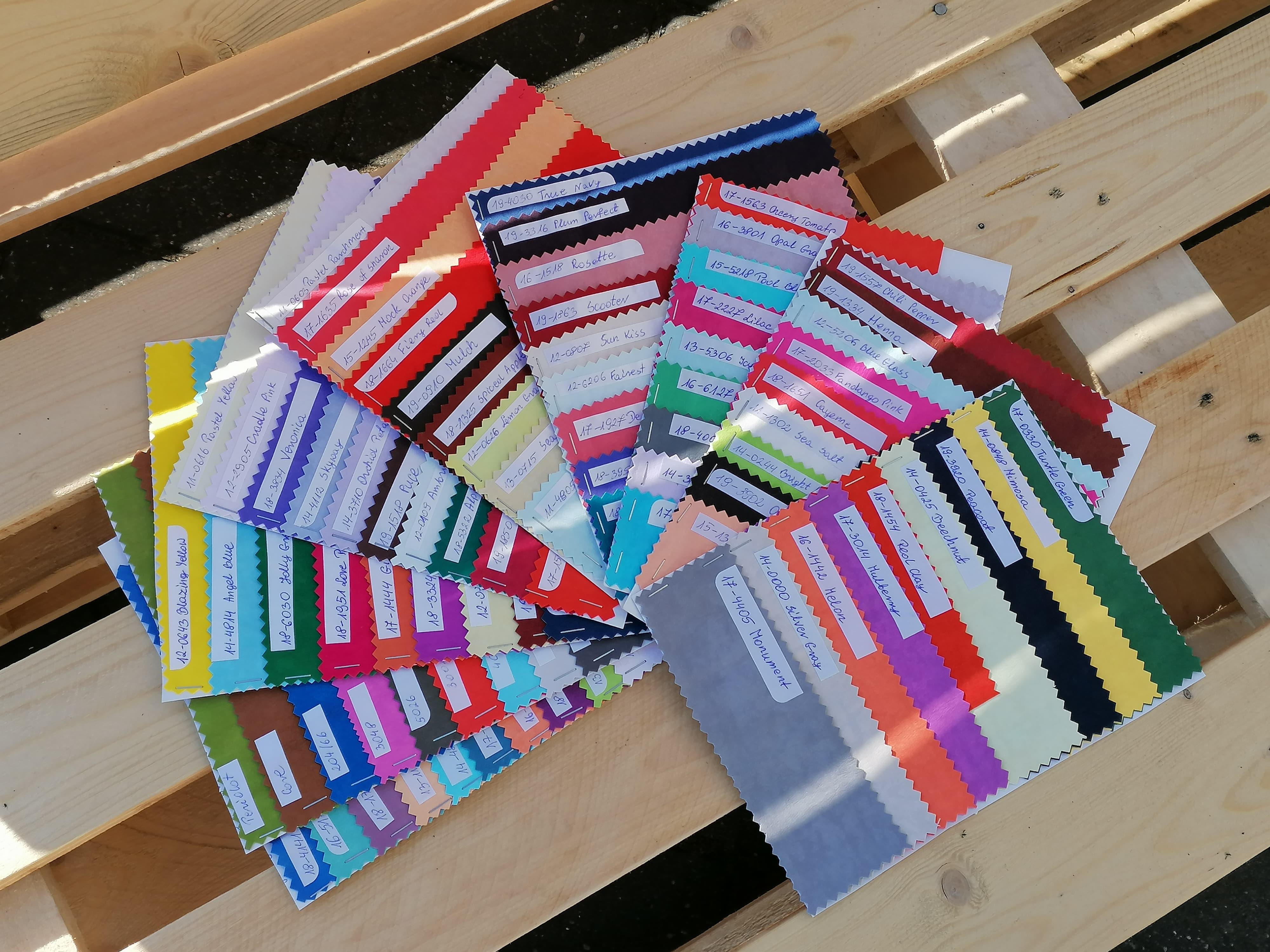 wzornik kolorów washpapy do farbowania - sklep Alternative Textiles